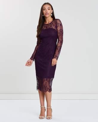 Wallis Lace Illusion Midi Dress