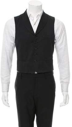 Ann Demeulemeester Patterned Shawl Collar Vest