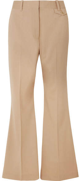 Wool-blend Flared Pants - Beige