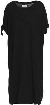 Velvet by Graham & Spencer Knotted Slub Linen-Blend Jersey Dress