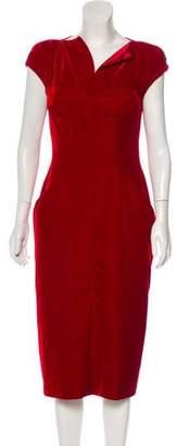 Tom Ford Velvet Midi Dress w/ Tags
