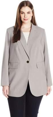 Calvin Klein Women's Plus Size One Button Lux Blazer