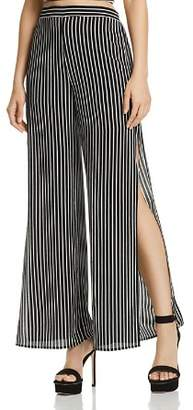 Aqua Striped Split Wide Leg Pants - 100% Exclusive
