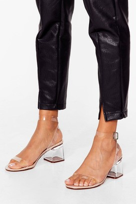 Nasty Gal Clear the Air Low Heel