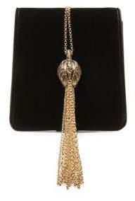 Lanvin Chained Velvet Shoulder Bag