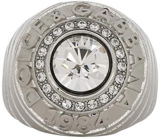 Dolce & Gabbana Silver Logo Ring