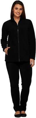 Denim & Co. Active Regular Fleece Zip Front Jacket and Pant Set