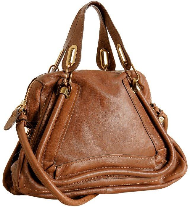 Chloé wood leather 'Paraty' medium top handle bag