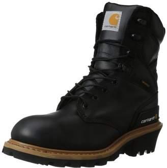 "Carhartt Men's 8"" Waterproof Breathable Soft Toe Logger Boot CML8131"