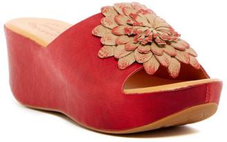 Kork-Ease Noellie Flower Platform Wedge Slide Sandal $170 thestylecure.com