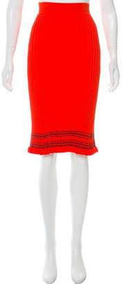 Altuzarra Rib Knit Knee-Length Skirt