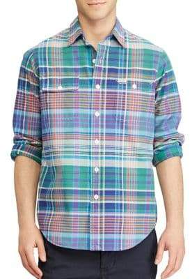 Polo Ralph Lauren Plaid Casual Button-Down Cotton Shirt
