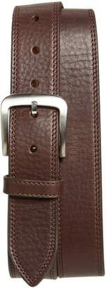 Shinola Double Stitch Leather Belt