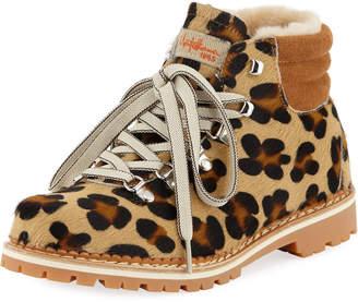 Margherita La Montelliana Fur Lace-Up Boots