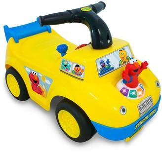 Sesame Street Elmo School Bus Light & Sound Activity Ride-On Vehicle by Kiddieland