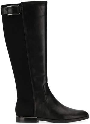 Calvin Klein knee-high buckle boots
