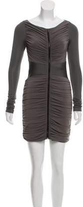Rag & Bone Ruched Zip-Up Mini Dress