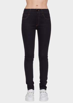 Versace Long Skinny Jeans Safety Pin