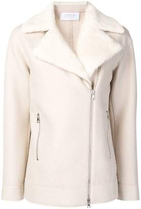 Harris Wharf London shearling collar jacket