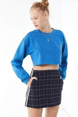 Urban Outfitters Trevor Plaid Side Stripe Mini Skirt