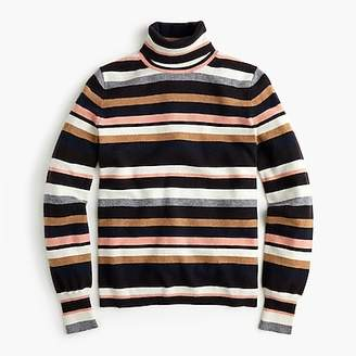 J.Crew Turtleneck sweater in striped everyday cashmere