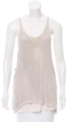 Inhabit Sleeveless Crocheted Top