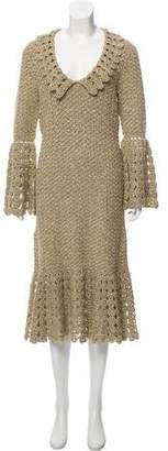 Michael Kors Spring 2019 Metallic Knit Dress