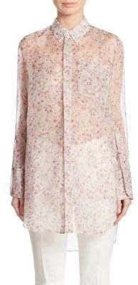 Calvin Klein Collection Kershaw Floral-Print Silk Tunic