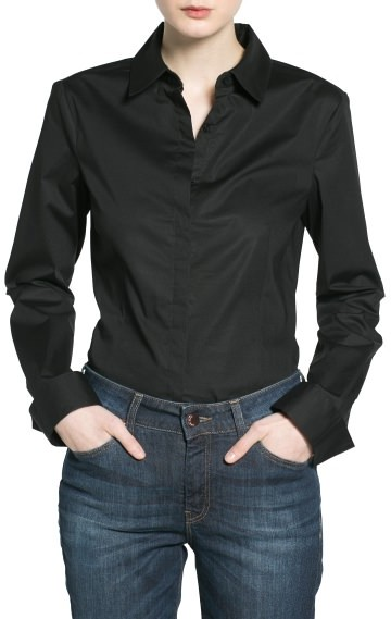 MANGO Outlet Fitted Cotton Shirt