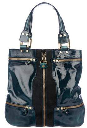 Jimmy Choo Patent Leather & Suede Mona Tote