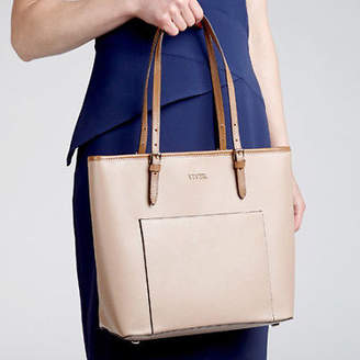 NEW Venus Large Leather Tote Bag Nude Women's by VIVER Leather