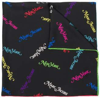 Marc Jacobs New York print square scarf