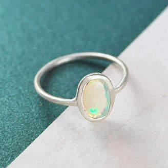 Embers Ethiopian Opal Birthstone Jewellery Gift Silver Ring