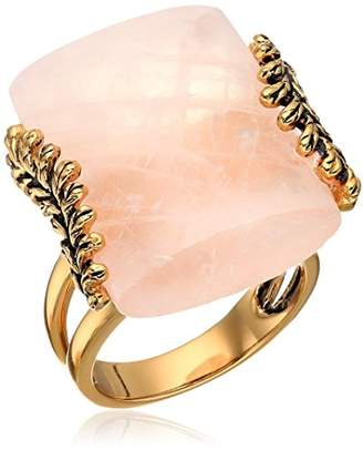 Barse Rose Quartz Statement Ring