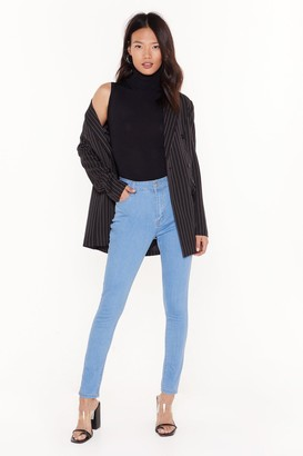 Nasty Gal Recyled You Know We're Tight High-Waisted Skinny Jeans