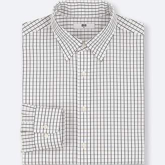 Uniqlo Men's Easy Care Checked Regular-fit Long-sleeve Shirt (online Exclusive)