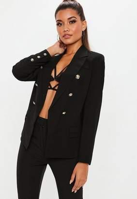 Missguided Black Military Jacket