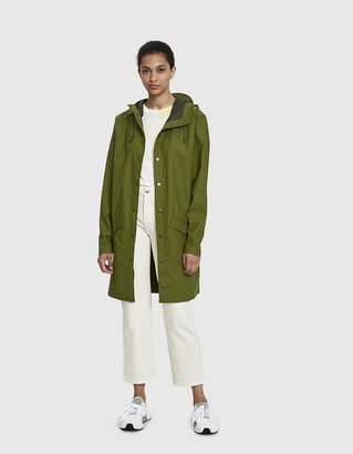 Rains Long Rain Jacket in Sage