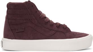 Vans Burgundy Nubuck Sk8-Hi Reissue Lite LX Sneakers $140 thestylecure.com