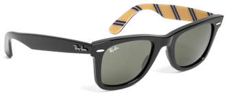 Brooks Brothers Ray-Ban Wayfarer Sunglasses with Yellow BB#1 Rep Stripe