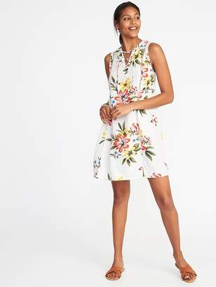 Old Navy Lace-Up Sleeveless Swing Dress for Women