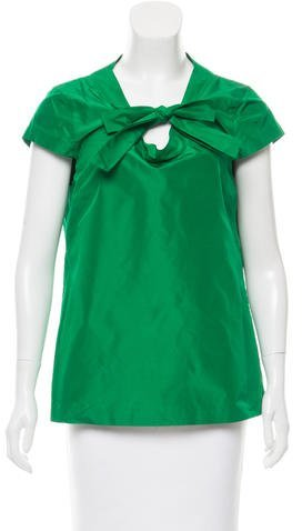 Kate Spade New York Short Sleeve Silk Blouse