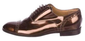 Marc by Marc Jacobs Metallic Round-Toe Loafers