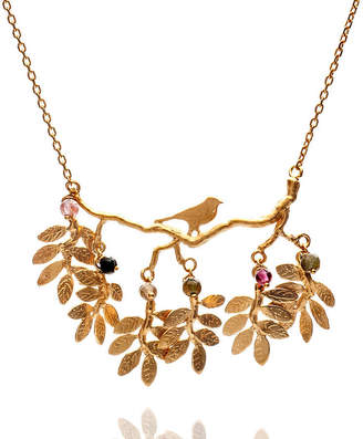 Coleman Amanda Bird And Leaves Necklace