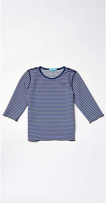 J.Mclaughlin Girls' Reversible Signature Tee in Stripe
