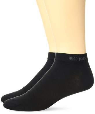 HUGO BOSS Men's 2-Pack Solid Cotton Ankle Sock