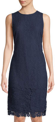 Karl Lagerfeld Paris Sleeveless Lace Midi Sheath Dress