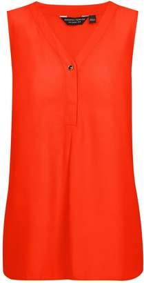 Dorothy Perkins Womens March Orange Sleeveless Top