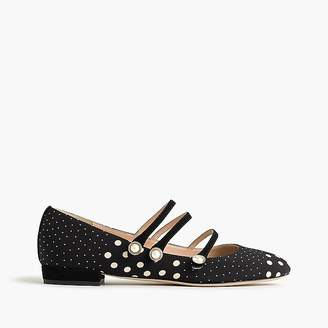 Strappy polka-dot flats $168 thestylecure.com