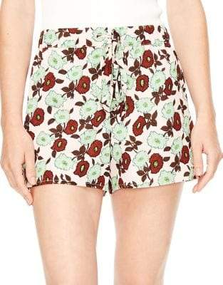 Sandro Luciano Flowing Floral Shorts